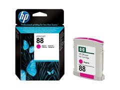 HP 88 Magenta (Yield 1,000 Pages) Ink Cartridge (10ml) with Vivera Ink