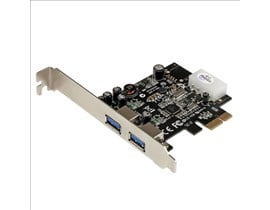 StarTech.com 2 Port PCI Express (PCIe) SuperSpeed USB 3.0 Card Adaptor with UASP - LP4 Power