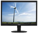 Philips S-Line 240S4QMB (24.0 inch) LCD Monitor with SmartImage LED Backlight 1000:1 250cd/m2 1920x1200 15ms DVI/VGA (Black)