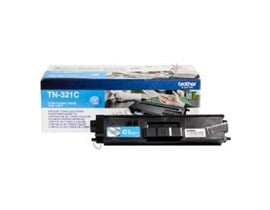 Brother TN-321C (Yield: 1,500 Pages) Cyan Toner Cartridge