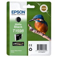Epson Kingfisher T1598 UltraChrome Hi-Gloss2 Matte Black Ink Cartridge