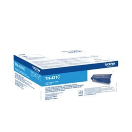 Brother TN-421C (Yield: 1,800 Pages) Cyan Toner Cartridge
