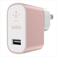 Belkin MIXIT 2.4 Amp Metallic Home Charger (Rose Gold)