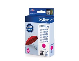 Brother LC225XLM (Yield: 1,200 Pages) Magenta Ink Cartridge