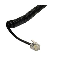 Cables Direct Coiled Handset Cable (Black)