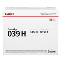 Canon 039H (Yield 25,000 Pages) High Yield Black Toner Cartridge for i-SENSYS LBP351/LBP352 Printers