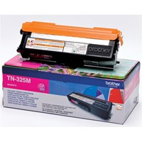 Brother TN-325M (Yield: 3,500 Pages) Magenta Toner Cartridge