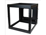 StarTech.com 12U 22 inch Depth Hinged Open Frame Wall Mount Server Rack
