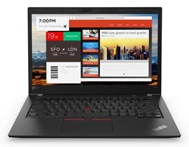 Lenovo ThinkPad T480s (14 inch) Notebook Core i5 (8250U) 1.6GHz 8GB (8GB Soldered) 256GB SSD WLAN BT Webcam Windows 10 Pro 64-bit (Intel UHD Graphics 620)