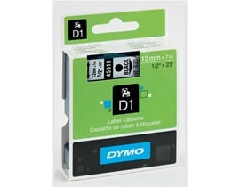 Newell D1 (12mm) Permanent Plastic Tape (Black on Transparent) for Dymo Pocket Label Printers