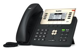 Yealink T27P Enterprise HD IP Phone 8-Line Keys 6-SIP Accounts Handsfree PoE (Black)