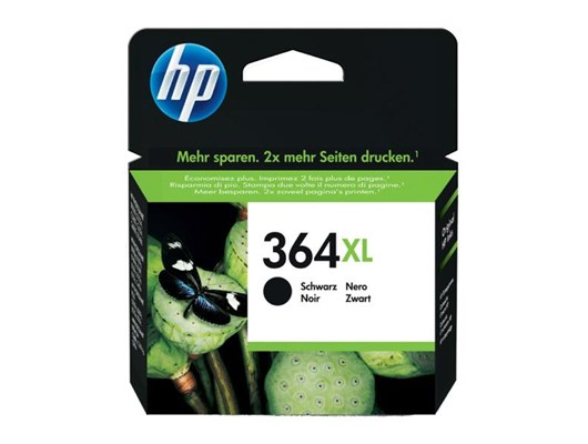 HP 364XL Black Ink Cartridge (Yield 550 Pages) for Deskjet 3070A/Officejet 4620/Photosmart 5510/5514/6510/7510/Photosmart Plus Printers