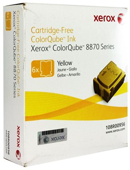 Xerox ColorQube 108R00956 (Yield: 17,300 Pages) Yellow Solid Ink Sticks Pack of 6