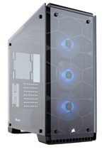 Corsair Crystal Series 570X Compact ATX Mid-Tower Case with RGB LED fans (Black)