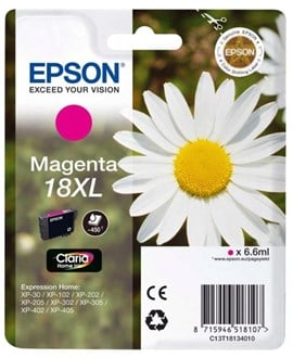 Epson Daisy 18XL T1813 (Yield 450 pages) Magenta 6.6ml Ink Cartridge RF/AM