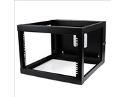StarTech.com 6U 22 inch Depth Hinged Open Frame Wall Mount Server Rack