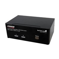 StarTech.com 2-Port Dual DisplayPort USB KVM Switch with Audio and USB 2.0 Hub