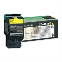 Lexmark Return Program (Extra High Yield: 4,000 Pages) Yellow Toner Cartridge for C544, X544 Colour Laser Printers