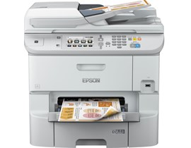 Epson WorkForce Pro WF-6590DWF (A4) Colour Inkjet Wireless Multifunction Printer (Print/Copy/Scan/Fax) 10.9cm Colour Touchscreen 34ppm (Mono) 34ppm (Colour) 65,000 (MDC)