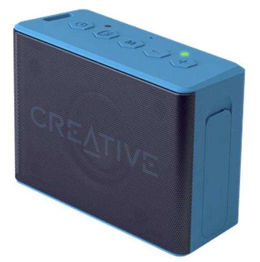 Creative MUVO 2c Bluetooth Palm Sized Water Resistant Bluetooth Speaker with Built-in MP3 Player (Blue)