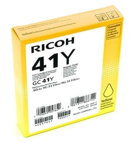 Ricoh GC41Y (Yield: 2,200 Pages) Yellow Gel Ink Cartridge