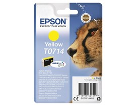 Epson Cheetah T0714 (Yield 460 Pages) DURABrite Ink Cartridge (Yellow)