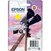 Epson 502 Series (Yield: 165 Pages) Yellow Ink Cartridge (3.3ml) for WorkForce WF-2860DWF/Expression Home XP-5105