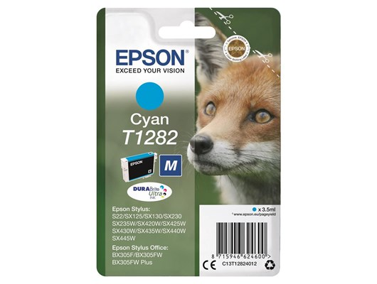 Epson Fox T1282 (3.5ml) DURABrite Ultra Ink Cartridge (Cyan)