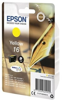 Epson Pen and Crossword 16 (Yield 165 Pages) DURABrite Ultra Ink Cartridge (Yellow)