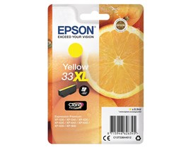Epson Oranges 33XL (Yield 650 Pages) Claria Premium Ink Cartridge (Yellow)