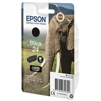 Epson Elephant 24 (non-Tagged) Ink Cartridge (Black) for Epson Expression Photo: XP-750 / XP-850