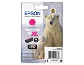 Epson Polar Bear 26XL (Yield 700 Pages) Claria Premium Ink Cartridge (Magenta)