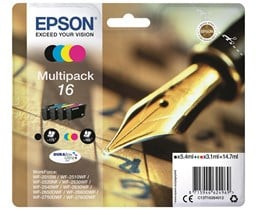 Epson Pen and Crossword 16 Multipack 4 Colour DURABrite Ultra Ink Cartridges (Black/Cyan/Magenta/Yellow)