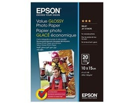Epson Value Glossy Photo 10 x 15cm Paper (20 Sheets)