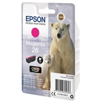 Epson Polar Bear 26 (Yield 300 Pages) Claria Premium Ink Cartridge (Magenta)