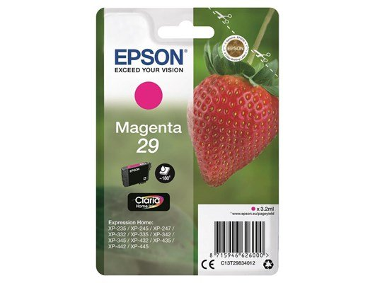 Epson Strawberry 29 (Yield 175 Pages) Claria Home Ink Cartridge (Magenta)