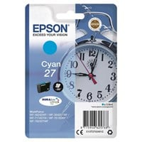 Epson Alarm Clock 27 DURABrite Ultra Ink Cartridge (Cyan) Blister for WorkForce WF-3620DWF/WF-7610DWF/WF-3640DTWF/WF-7620DTWF/WF-7110DTW Printers