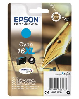 Epson Pen and Crossword 16XL (Yield 450 Pages) DURABrite Ultra Ink Cartridge (Cyan)