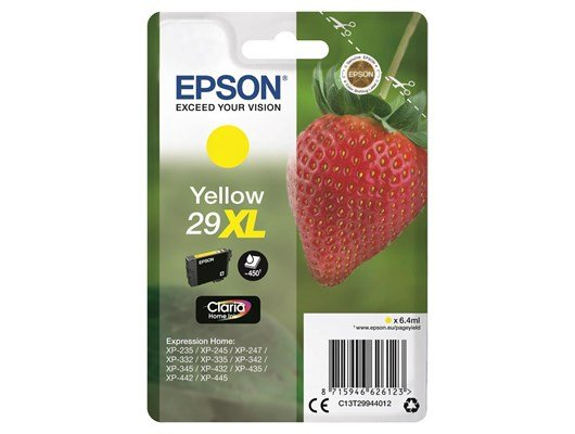 Epson Strawberry 29XL (Yield 450 Pages) Claria Home Ink Cartridge (Yellow)