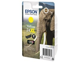 Epson Elephant 24XL (Yield 740 Pages) High Capacity Claria Photo HD Ink Cartridge (Yellow)