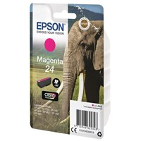 Epson Elephant 24 (non-Tagged) Ink Cartridge (Magenta) for Epson Expression Photo: XP-750 / XP-850