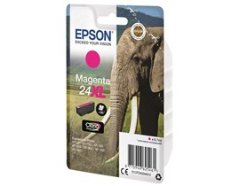 Epson Elephant 24XL (Yield 740 Pages) High Capacity Claria Photo HD Ink Cartridge (Magenta)