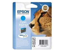 Epson T0712 (Yield 495 pages) Cyan 5.5ml Ink Cartridge (Blister Pack with RF)
