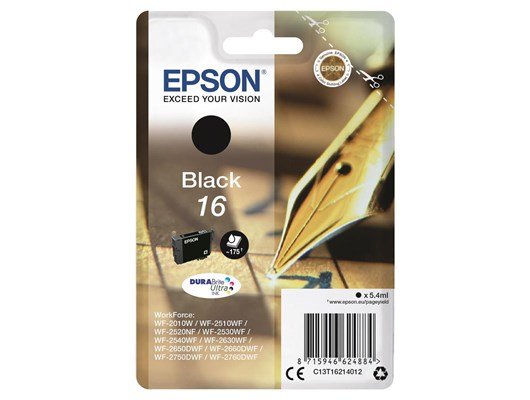 Epson Pen and Crossword 16 (Yield 175 Pages) DURABrite Ultra Ink Cartridge (Black)
