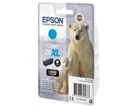 Epson Polar Bear 26XL (Yield 700 Pages) Claria Premium Ink Cartridge (Cyan)