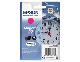 Epson Alarm Clock 27 DURABrite Ultra Ink Cartridge (Magenta) Blister for WorkForce WF-3620DWF/WF-7610DWF/WF-3640DTWF/WF-7620DTWF/WF-7110DTW Printers