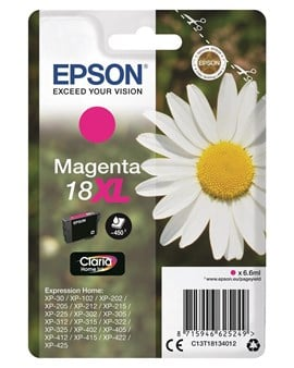 Epson Daisy 18XL (Yield 450 Pages) Claria Home Ink Cartridge (Magenta)