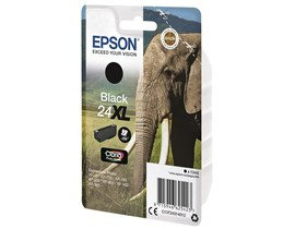 Epson Elephant 24XL (non-Tagged) High Capacity (Yield 500 Pages) Ink Cartridge (Black)
