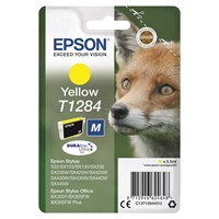 Epson Fox T1284 (3.5ml) DURABrite Ultra Ink Cartridge (Yellow)