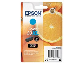 Epson Oranges 33XL (Yield 650 Pages) Claria Premium Ink Cartridge (Cyan)